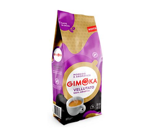 Café GIMOKA Veluttato en granos 500 Gr.