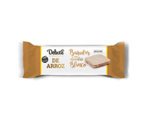 Galletitas de arroz DELUXE Chocolate Blanco